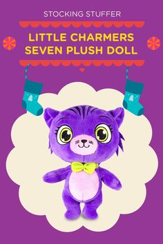 This Little Charmers Seven plush doll makes the purrrfect stocking stuffer!
