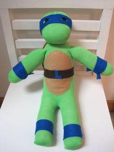 Handmade Sock Ninja Turtle by scooterandgoose on Etsy, $35.00