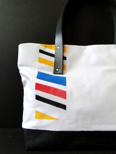 mondrian inspired bag