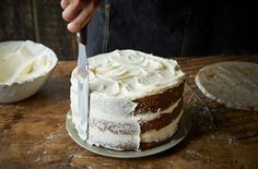 Sweet and lightly spiced, this layered carrot cake recipe with cream cheese icing is a classic bake to master. Learn how to make carrot cake at Tesco Real Food. Cream Cheese Recipes, Cream Cheese Icing, Baking Recipes, Cake Recipes, Tesco Real Food, Sugar Rush, Carrot Cake, Vanilla Cake, Carrots