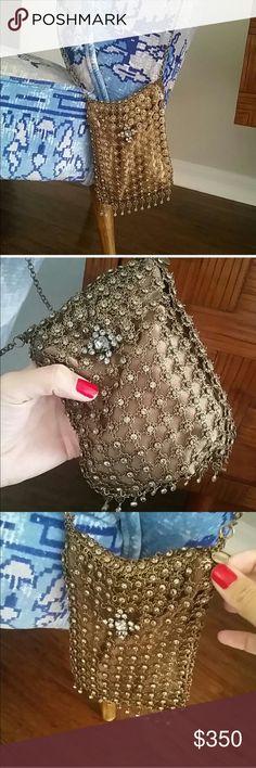 Precious evening bag My designer antique silver with Swarovski elements amazing!!! Precious ! Clutch or cross body, jewelry bag. Inside silk Free People Bags