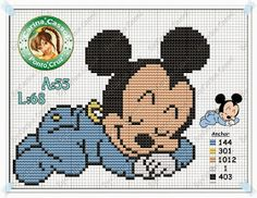 Risultati immagini per stitch cross baby disney patterns Xmas Cross Stitch, Cross Stitch Baby, Cross Stitch Kits, Cross Stitch Charts, Cross Stitching, Disney Stitch, Disney Babys, Baby Disney, Disney Mickey