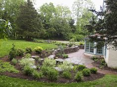 brief article on how to plant a rain garden...a garden to help prevent flooding in yard