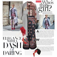 Milan Fashion Week: Print on print! by minnie-me on Polyvore #StreetStyle #fringebag #PrintOnPrint
