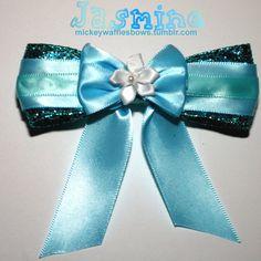 Jasmine Hair Bow by MickeyWaffles on Etsy, $8.00