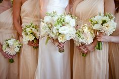 white, ivory and beige bouquet