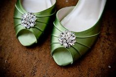 My wedding shoes!!!      What would a St. Patrick's Day wedding be without green shoes???  :)