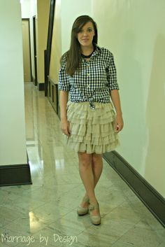 Ruffle Skirt and Gingham Shirt