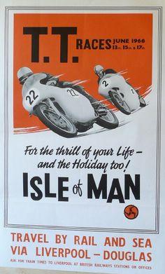 Isle of Man TT racing vintage railway poster  £300  JUL16