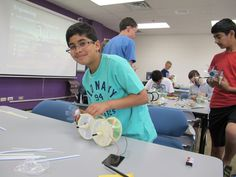 Today, fifth and six graders built solar power rovers in the Tech Camp class called Exploration 2050: Future of Space Exploration and Drones. They plan to take them outside tomorrow.