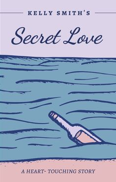 Purple Pastels Ocean note in a bottle, secret love