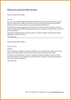 Request For Payment Letter Format Gallery Letter Samples Format