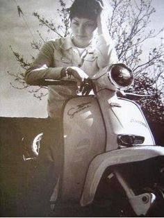 scooter girl.  Bristish street style. 60's mod.