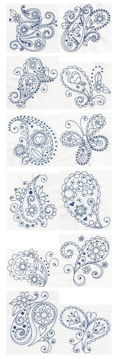 The+skill+in+these+are+incredible.+THe+paisley+butterfly+is+definitely+something+I+could+use+on+a+box.+Paisley+line+drawings+#Paisley+Patterns