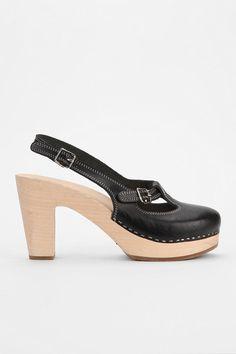 $235 Swedish Hasbeens Mary Jane Slingback Heel