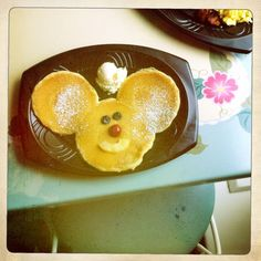 Mickey Mouse Pancakes at River Belle Terrace Restaurant in Disneyland :-) childhood :-) Mickey Mouse Pancakes, Happily Ever After Disney, Terrace Restaurant, All The Colors, Disneyland, Good Things, Breakfast, River, Desserts