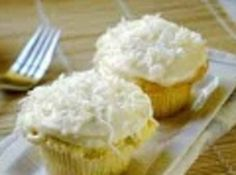 Coconut Cup Cakes with Coconut Cream Cheese Recipe | Just A Pinch Recipes