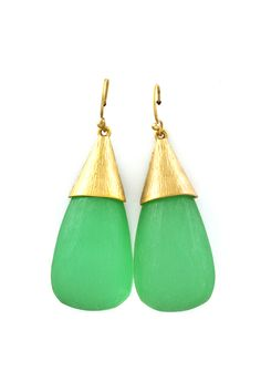 Kelly Green Lucite Teardrop Earrings | Awesome Selection of Chic Fashion Jewelry