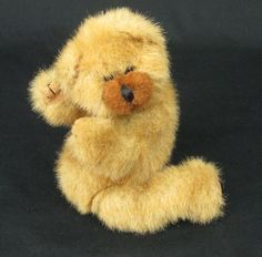 "Ty Beanie Teddy Bear Brown Furry Jointed Pose able 1993  9"" Retired #Ty"