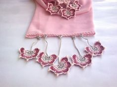 Light Pink Foulard with Turkish Lace Oya by redappletr on Etsy, $24.99