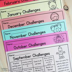 Editable monthly homework challenges calendar for kindergarten. Homework Bingo, Preschool Homework, Kindergarten Schedule, Homework Calendar, Kindergarten Calendar, Reading Homework, Kindergarten Lesson Plans, Homeschool Kindergarten, Kindergarten Classroom