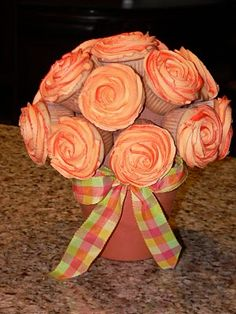 Cupcake bouquet...great for a birthday or mother's day.