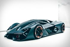 """Developed in partnership with MIT, the Lamborghini Terzo Millennio Concept is the Raging Bull's idea of a supercar for the """"third millennium."""" Unhappy with current battery technology, Lamborghini decided to instead base the all-electric car on supercapacitors that deliver high..."""