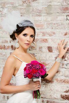 pink wedding bouquet #blackandgoldwedding #pinkbouquet #weddingchicks http://www.weddingchicks.com/2013/12/31/black-and-gold-wedding-ideas/