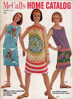 Ah Yes, the A-line and the Shift. Easy sewing in 1964.