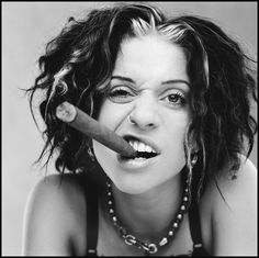 Ani Difranco (1970) - American singer, guitarist, multi-instrumentalist, poet and songwriter. Photo by Bonnie Schiffman, 1989