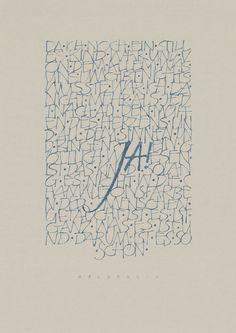 Kalligraphierte Texte - Kalligraphie Hoyer