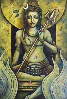 """SHIVAM SUNDARAM Artist : Madhusudan Size(h"""" x w"""") : 54x42"""