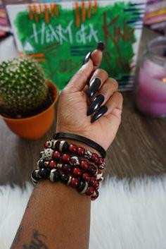 #beadbracelet #africanjewelry #beadbracelets #afrocharms #urbanstyle #streetstyle Urban Electric, African Jewelry, Urban Fashion, Beaded Bracelets, Charmed, Beads, Beading, Pearl Bracelets, Bead