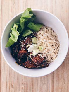 Tandoori Hühnchen mit Reis und Joghurt! Einfach und lecker! <3