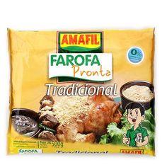 Amafil Farofa Pronta Tradicional 500g (1.1 lb)