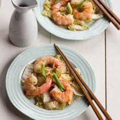 Stir-Fried Shrimp and Cabbage