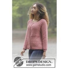 Namdalen Jacket by DROPS Design Jakke Strikkeoppskrift str. S XXXL