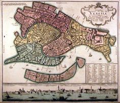 antique map venice
