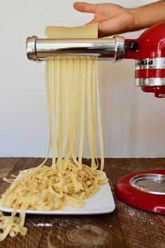 If you're ready to take your pasta dishes to the next level, store-bought pasta just isn't going to cut it. In this post, we detail exactly how to make pasta fr Kitchen Aid Pasta Recipe, Kitchen Aid Recipes, Cooking Recipes, Cooking Games, Recipe For Pasta, Pasta Dough Recipe, Cooking Classes, Pasta Fresca Recipe, Handmade Pasta Recipe