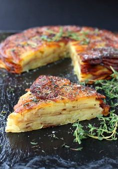 Brown Butter and Thyme Potato Torte   A Side Dish For Dinner Or Brunch Potato Dishes, Vegetable Dishes, Vegetable Recipes, Vegetarian Recipes, Cooking Recipes, Healthy Recipes, Potato Recipes, Cooking Games, Cooking Ribs