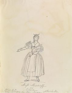 Miss Shirreff as Clara dated Jan 31 1836 by Queen Victoria, Queen of the United Kingdom (1819-1901)