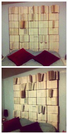 DIY: A bookish headboard ...