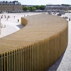 Versailles Pavilion by Explorations Architecture. I think we actually went through this.  At the time I thought it was how they were hiding construction mess.  It certainly isn't ornate.