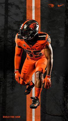 2019 Oregon State University Beavers football uniforms — orange on orange College Football Uniforms, Soccer Uniforms, Football Outfits, Football Jerseys, Football Helmets, Football Poses, Gator Football, Arena Football, Bulldogs Football