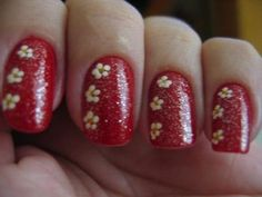 nail art. red.