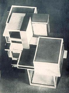 Model of artist's house   Artist: Theo van Doesburg (1883-1931) Completion Date: 1923 Place of Creation: Germany Style: Constructivism Genre: design Gallery: Theo van Doesburg Archive, Hague, Netherlands