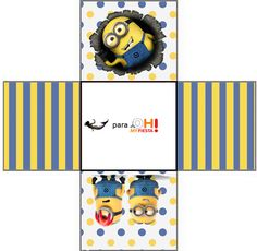 Minions, the Movie: Free Printable Boxes. | Oh My Fiesta! in english