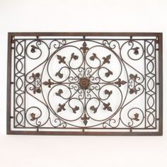 Metal Wall Plaque found it at wayfair - rustic everlasting metal scroll wall décor