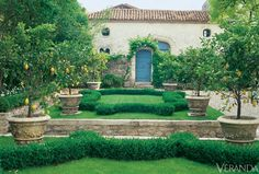 An enchanting garden in the South of France designed by Jean-Loup Dirand.