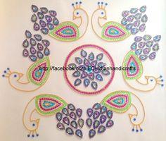 EC Indian Handicrafts' (Customised kundan rangolis): Peacock design